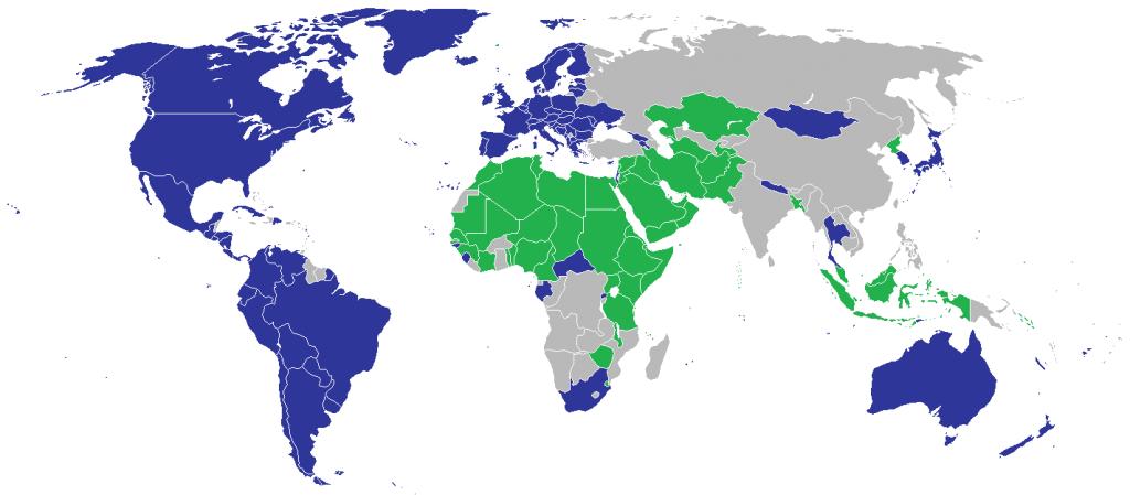国連における性的指向と性同一性に関する声明への賛否